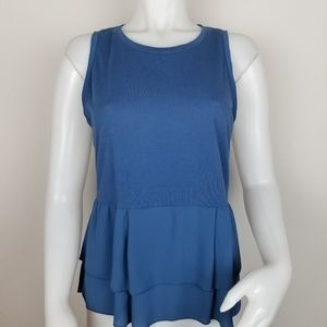 Loft Small Blue Sleeveless Blouse